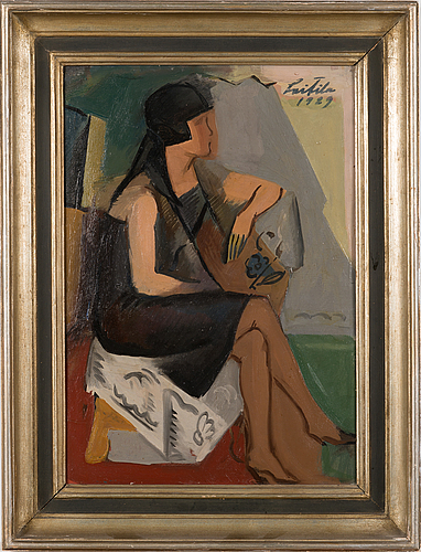 Atte laitila, oil on board, signed and dated 1929.
