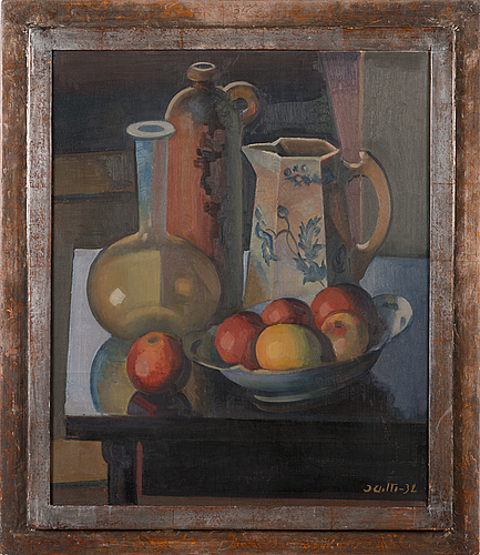 Ilmari aalto, oil on canvas, signed and dated-32.