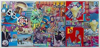 Andrey Bartenev, collage och blandteknik i akryllåda. Utförd 2007.