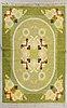 Ingegerd silow, a singed flat weave carpet 233 x167 cm.
