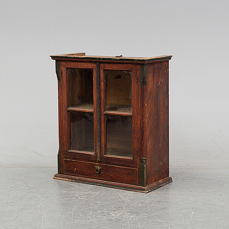 A swedish hanging cabinet, mid or second half of the 19th century.