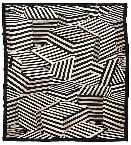 Andrzej rajch, a tapestry 'cubes ii' 1989. circa 230x200 cm.