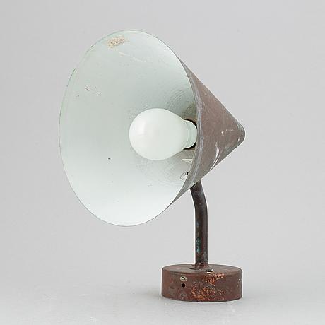 Hans-agne jakobsson, a 1960's 'tratten' wall light, markaryd, sweden.