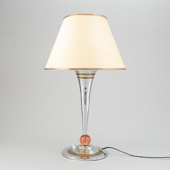 A art deco style table lamp, mid 20th century.