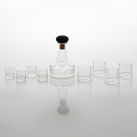 "Tapio wirkkala, a 22-piece glass ware, ""the captains glass ware"", iittala. designed 1963."
