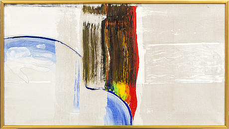 Lennart hall, oil on canvas signed and dated 1969.
