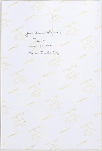 Ewa rudling, photograph, signed-.