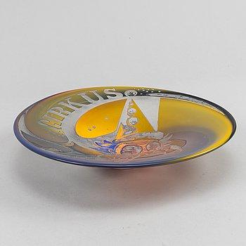 Jim Johnsson, a unique glass bowl, Sjöhyttan.