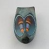 Monica backström, skulptur/objekt, glas, unik, kosta boda, signerad.
