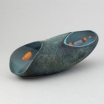 Monica Backström, a unique glass sculpture / object, Kosta Boda, signed.