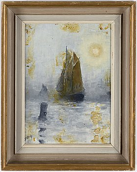 Sven Jonson, oil on canvas, signed and dated 1922.