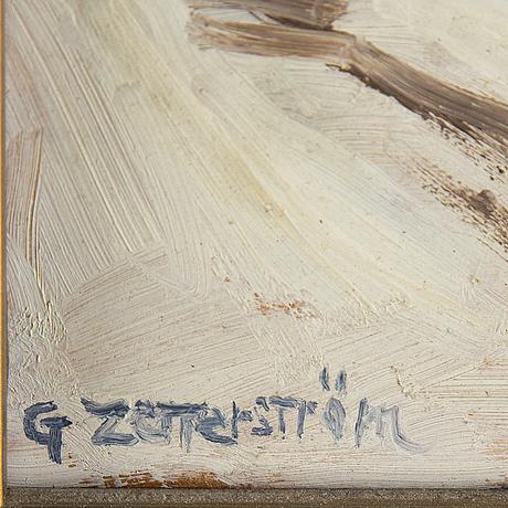 Gunnar zetterström, olja på pannå, signerad.