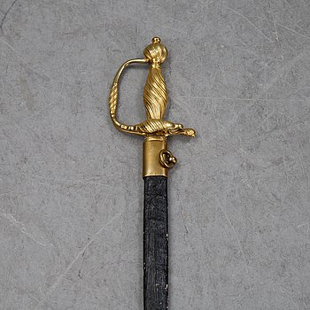 A composite smallsword with scabbard, 19th Century.