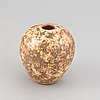 Hans hedberg, a glazed ceramic vase, biot, france, signed hbg.
