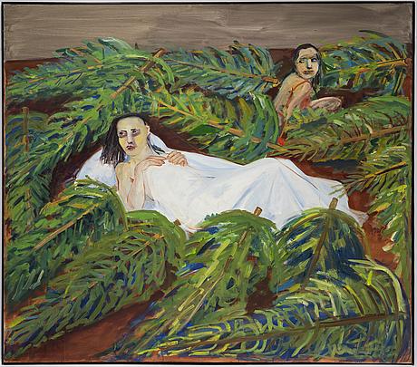 Lena cronqvist, oil on canvas, signed l cronqvist and dated 1985.