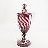 An italian murano glass goblet.
