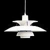 Poul henningsen, a model 'ph 5' ceiling light for louis poulsen, denmark.