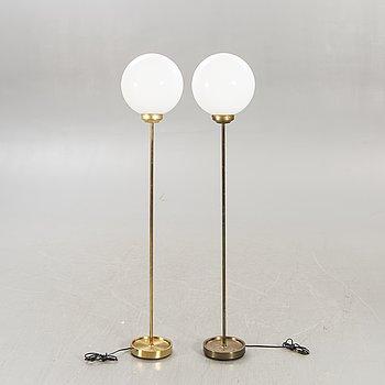 Floor lamps, a pair, Falkenbergs lighting, 1940s-50s.