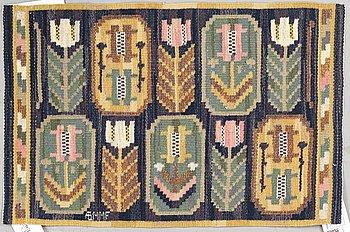 "Märta Måås-Fjetterström, a textile, ""Medaljongerna"", flat weave, ca 40 x 62 cm, signed AB MMF."