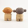 Lisa larson,  figuriner, 2 st, stengods, gustavsberg.
