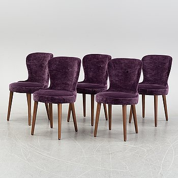 A set of five contemporary chairs from Homeline.