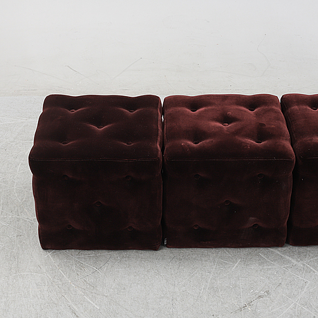 A set of four contemporary ottomans from homeline.