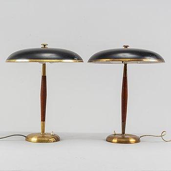 A pair of table lamps from Boréns AB Borås 1960's.
