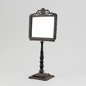 A cast iron table mirror, mid 19th century.