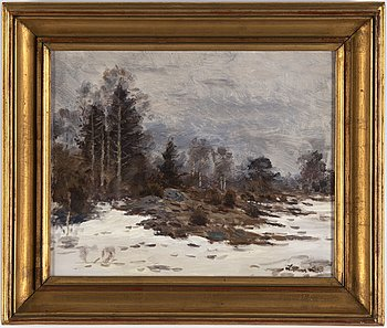 Lindorm Liljefors, oil on canvas, signed and dated -43.