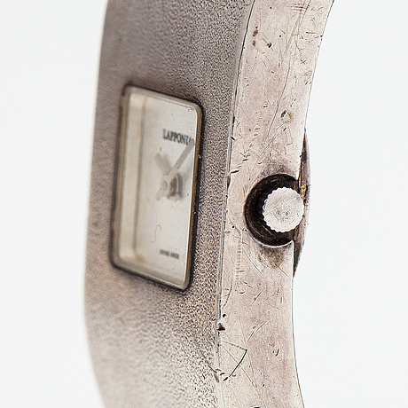 "Björn weckström, a sterling silver wristwatch ""protos"". lapponia 1991."