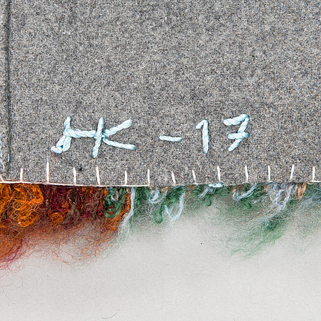 Hanna-kaisa korolainen, a 'broken flowers' rug signed and dated 2017. circa 200 x 140 cm.