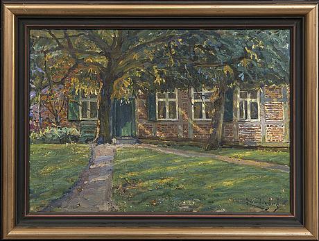 Justus lundegård, oil on canvas signed.