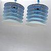 "Bernt boysen, window lamps / ceiling lamps, 2 pcs, ""duett"", ikea, model designed 1983."