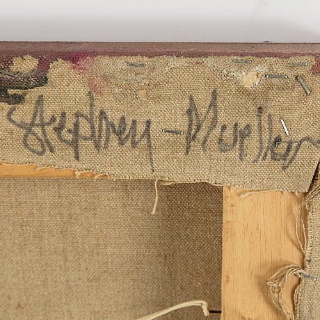 Stephen mueller, olja på duk, signerad och daterad a tergo 1984.