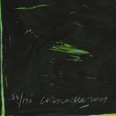 Beverloo corneille, färglitografi, 2001, signerad 54/190.