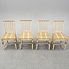 A set of two late gustavian chairs and two chairs in late gustavian-style, 19th and 20th century.