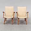 A pair of 1940's swedish modern easy chairs.