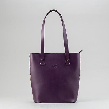 Mulberry, a purple leather handbag.