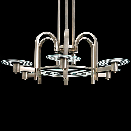 An art déco style ceiling light, second half of the 20th century.