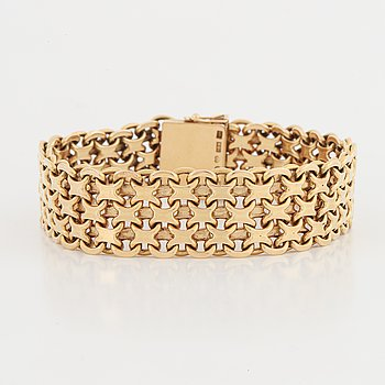 Armband, 18K guld, krysslänk.