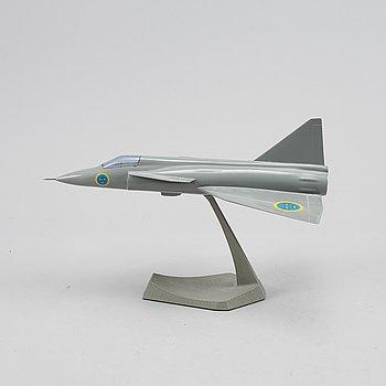 """Modellflygplan, """"Viggen 37"""" SAAB."""