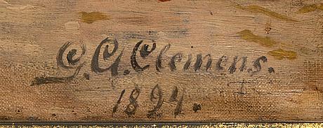 Gustaf adolf clémens, olja på duk signerad och daterad 1894.