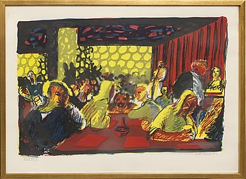 Peter Dahl, a lithograph in colours signed and numbered XXXVII/L.