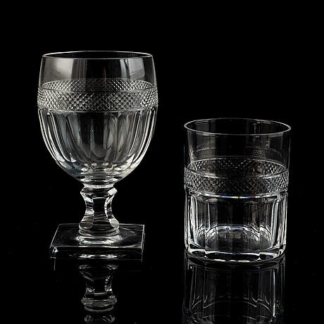 A 46 pcs glass service from kosta.