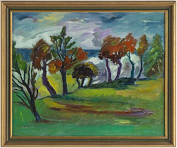 Paavo Sarelli, oil on canvas/paper-panel, signed and dated -99.