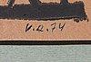 Viljo ranta, sekatekniikka, 4 kpl, signeeratut ja päivätyt -74-76.