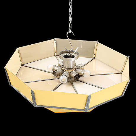 A 1930's/40's art déco ceiling light.