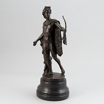 A bronze figure after the Apollo Belvedere, early 20th Century.