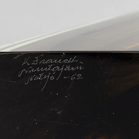 Kaj franck, skulptur, glas,  nuutajärvi/notsjö, signerad och daterad -62.