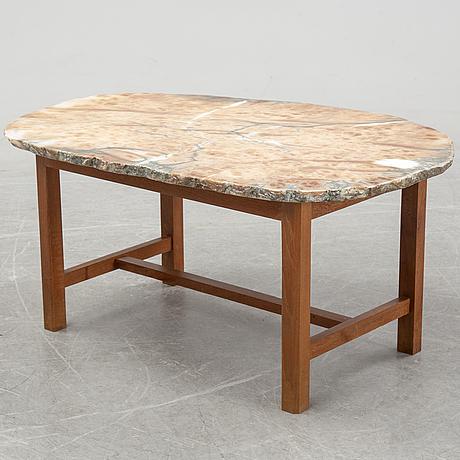 An agate top swedish modern coffee table, 1940's/50's.